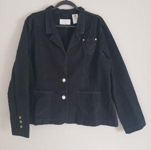 Levi's Black two button Denim Jeans Jacket